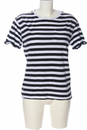H&M Divided Stripe Shirt white-black striped pattern casual look