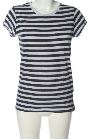 H&M Divided Ringelshirt weiß-schwarz Streifenmuster Casual-Look