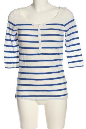 H&M Divided T-shirt rayé blanc-bleu motif rayé style décontracté