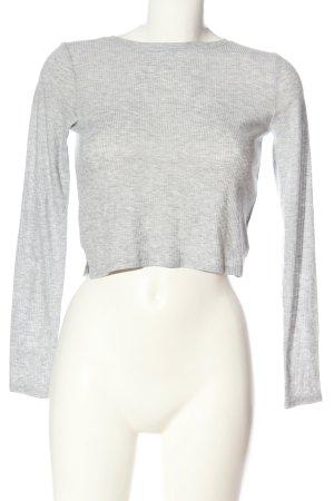H&M Divided Ribbed Shirt light grey casual look
