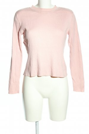 H&M Divided Rippshirt pink Casual-Look