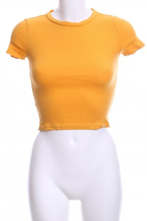 H&M Divided Geribd shirt licht Oranje gestreept patroon casual uitstraling