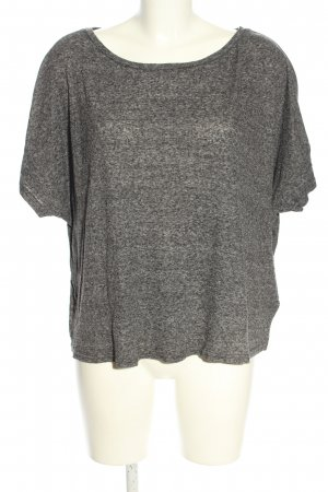 H&M Divided Geribd shirt lichtgrijs gestippeld casual uitstraling