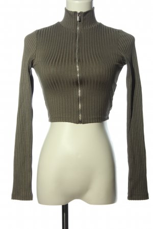H&M Divided Ribbed Shirt light grey striped pattern casual look