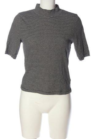 H&M Divided Chemise côtelée blanc-noir imprimé allover style décontracté