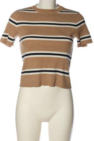 H&M Divided Prążkowana koszulka Na całej powierzchni W stylu casual