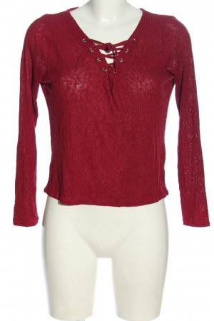 H&M Divided Rippshirt rot Casual-Look
