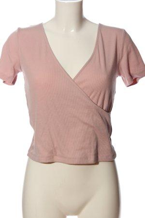 H&M Divided Chemise côtelée rose style décontracté