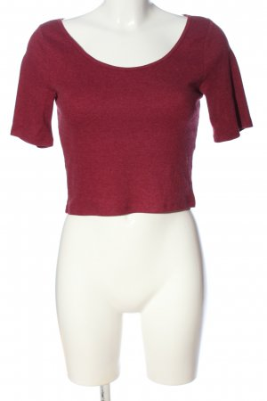H&M Divided Ribbed Shirt red casual look
