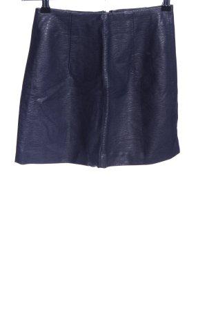H&M Divided Spódnica z imitacji skóry niebieski W stylu casual