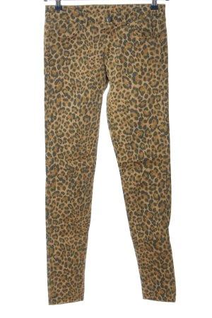 H&M Divided Pantalon cigarette brun-noir imprimé allover style extravagant