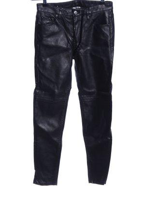 H&M Divided Pantalon cigarette noir style mouillé
