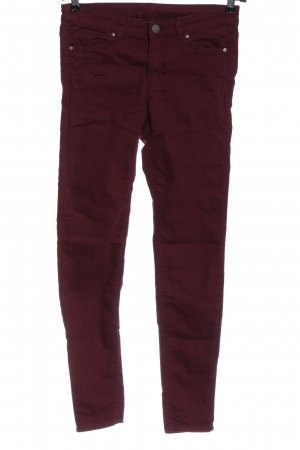 H&M Divided Röhrenjeans rot Casual-Look