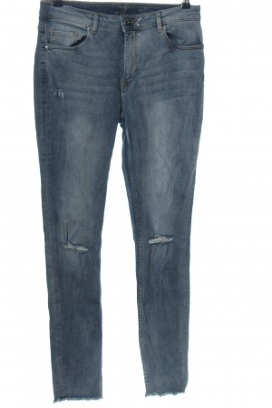 H&M Divided Röhrenjeans blau Casual-Look