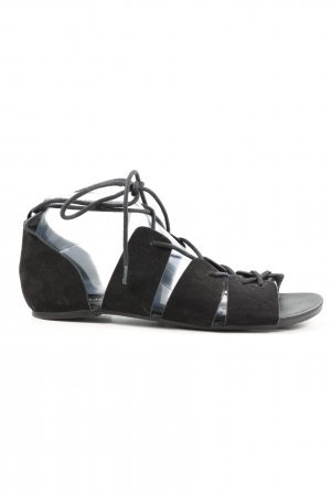 H&M Divided Roman Sandals black casual look