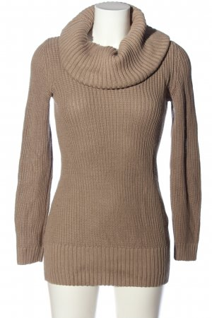 H&M Divided Turtleneck Sweater brown cable stitch casual look