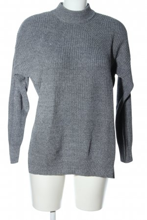H&M Divided Turtleneck Sweater light grey flecked casual look