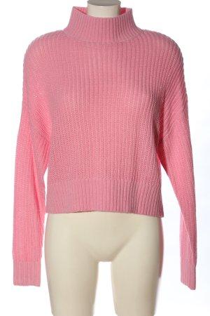 H&M Divided Jersey de cuello alto rosa look casual