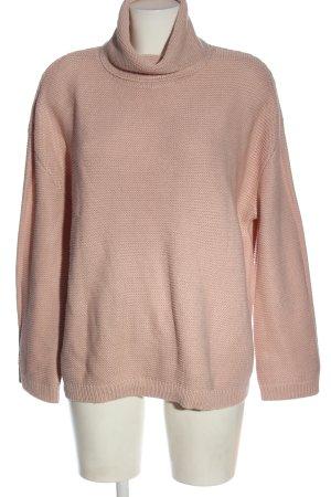 H&M Divided Rollkragenpullover pink Zopfmuster Casual-Look