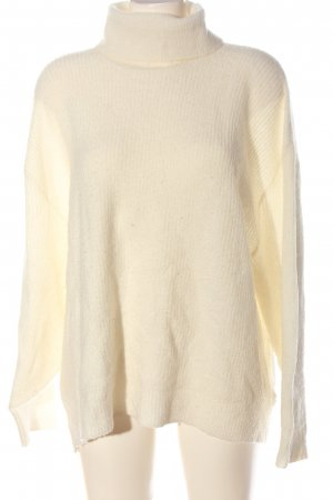 H&M Divided Turtleneck Sweater natural white casual look