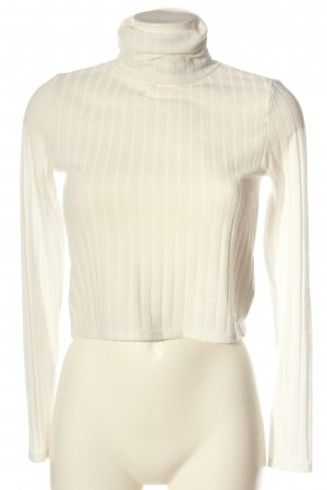 H&M Divided Turtleneck Shirt white casual look