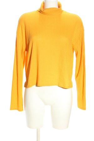 H&M Divided Camisa de cuello de tortuga naranja claro estampado a rayas