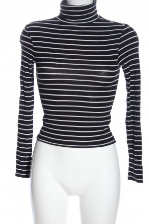 H&M Divided Turtleneck Shirt black-white allover print casual look
