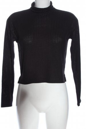 H&M Divided Turtleneck Shirt black casual look