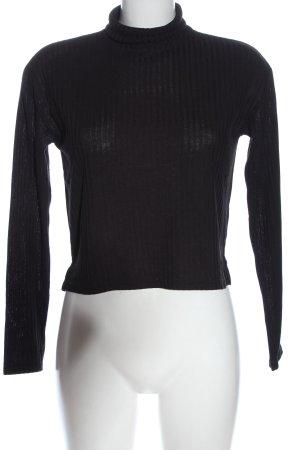 H&M Divided Top à col roulé noir style décontracté