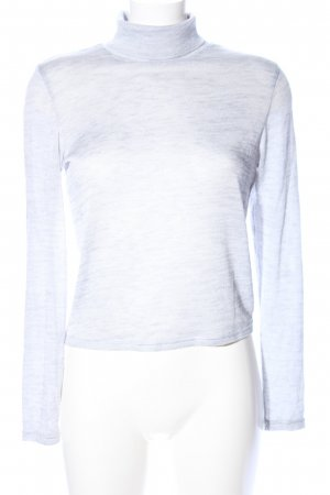 H&M Divided Turtleneck Shirt light grey flecked casual look