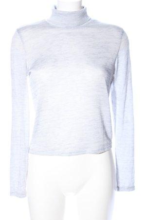H&M Divided Colshirt lichtgrijs gestippeld casual uitstraling