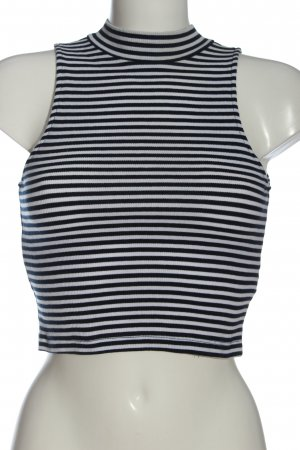 H&M Divided Neckholder Top black-white striped pattern casual look