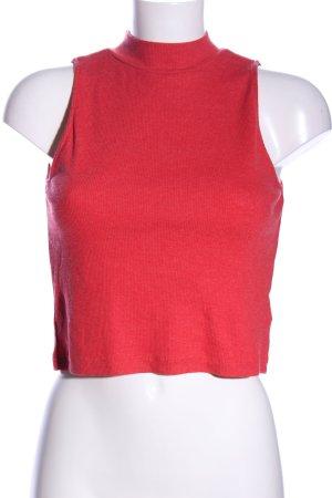 H&M Divided Top de cuello de cisne rojo look casual