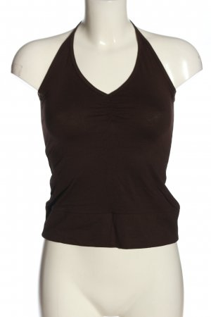 H&M Divided Blusa sin espalda marrón look casual