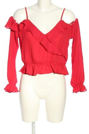 H&M Divided Rüschen-Bluse rot Elegant