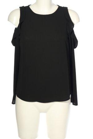 H&M Divided Rüschen-Bluse schwarz Casual-Look