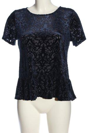 H&M Divided Rüschen-Bluse blau klassischer Stil