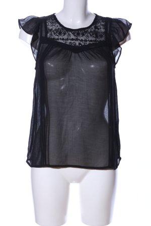 H&M Divided Rüschen-Bluse schwarz Elegant