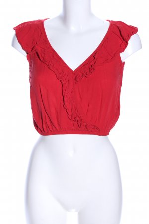 H&M Divided Top met franjes rood casual uitstraling