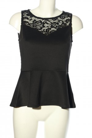 H&M Divided Frill Top black elegant