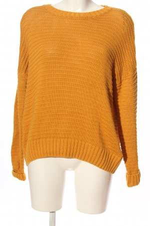 H&M Divided Rundhalspullover hellorange Casual-Look