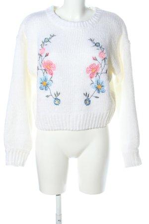 H&M Divided Kraagloze sweater bloemenprint casual uitstraling