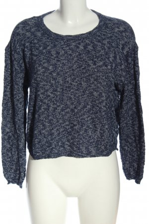 H&M Divided Rundhalspullover blau meliert Casual-Look