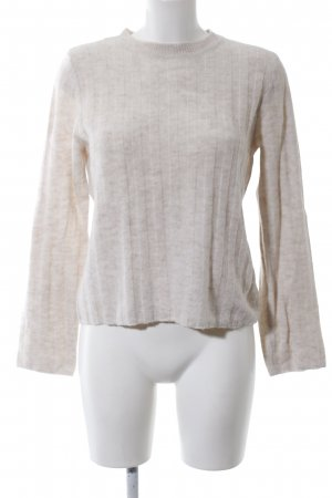 H&M Divided Crewneck Sweater cream flecked casual look