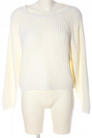 H&M Divided Crewneck Sweater white cable stitch casual look