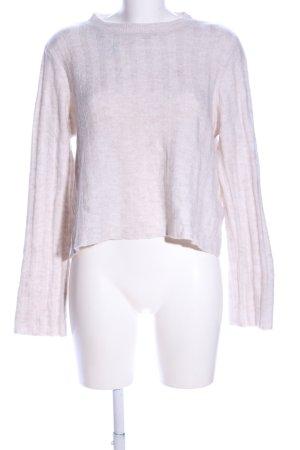 H&M Divided Maglione girocollo bianco sporco puntinato stile casual
