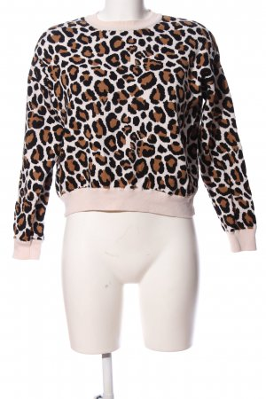 H&M Divided Rundhalspullover Animalmuster Casual-Look