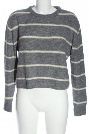 H&M Divided Pull ras du cou gris clair-blanc cassé imprimé allover