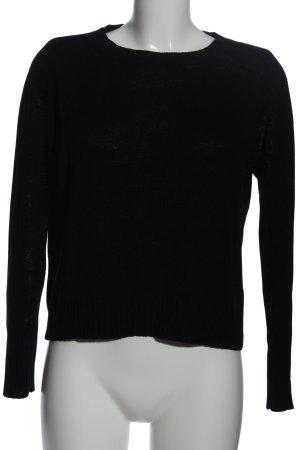 H&M Divided Rundhalspullover schwarz Casual-Look