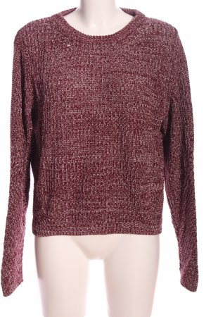 H&M Divided Rundhalspullover rot Webmuster Casual-Look